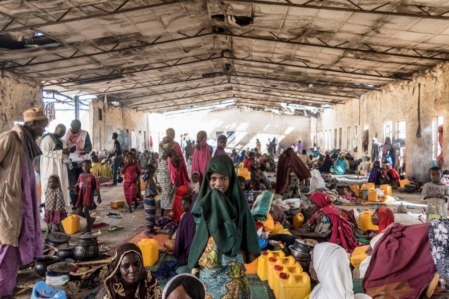 Здание в Монгуну, где обосновались вынужденные переселенцы. Северо-восток Нигерии, январь 2018 г.