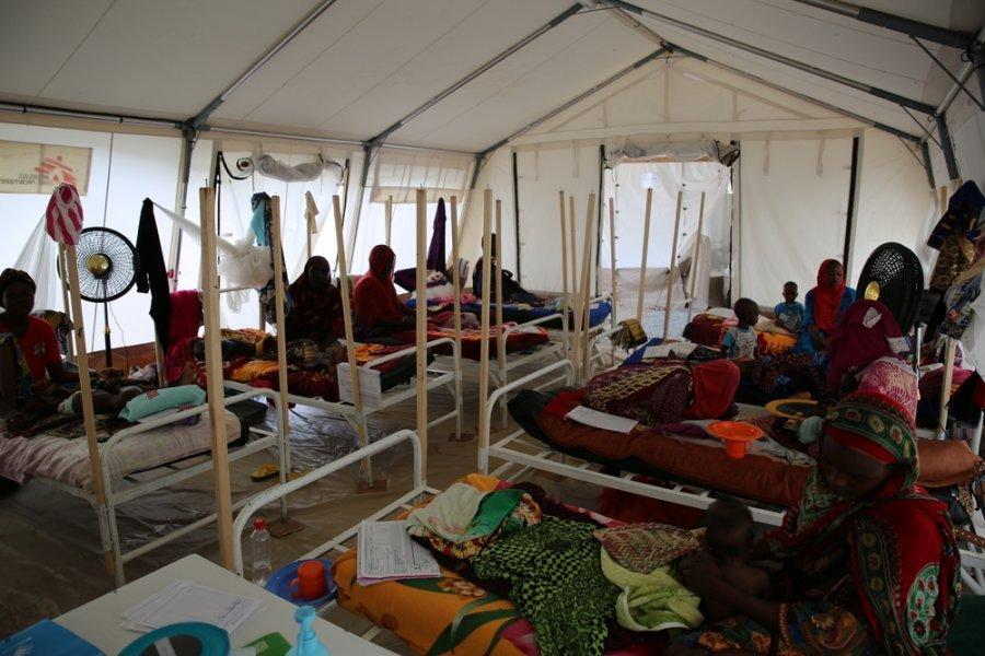 Стационарное отделение центра лечебного питания MSF в Нджамене. Чад, 4 августа 2018 г.