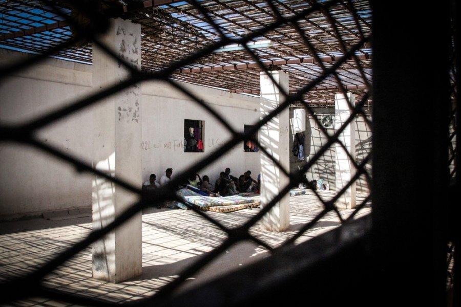 Центр временного содержания под стражей в Хомсе. Ливия, сентябрь 2018 г.