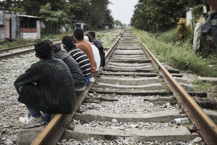 Мигранты в Коацакоалькосе, портовом городе штате Веракруса. Мексика, декабрь 2019 г.